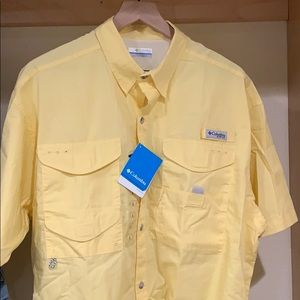 Yellow Colombia PFG button up
